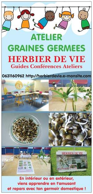 ATELIERS GRAINES GERMEES HERBIER DE VIE
