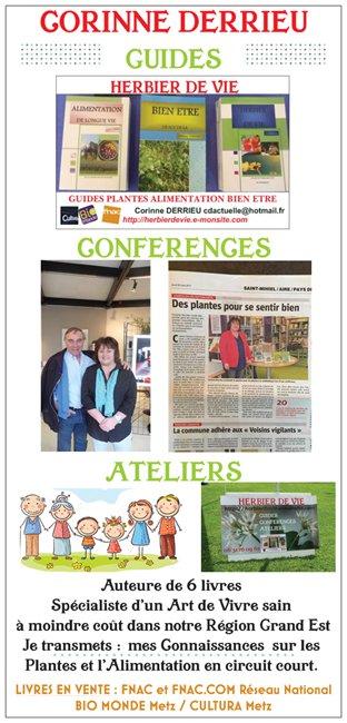 GUIDES CONFERENCES ATELIERS CORINNE DERRIEU HERBIER DE VIE