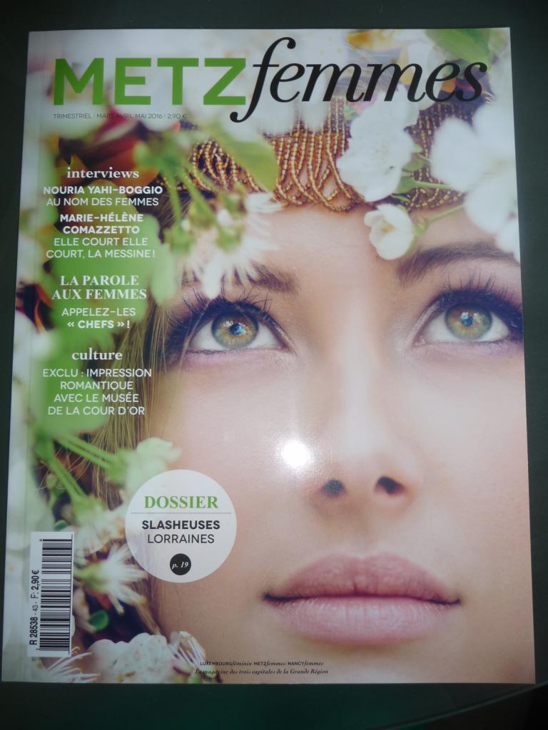 Article pour Herbier de Vie par Metz Femmes parution printemps 2016