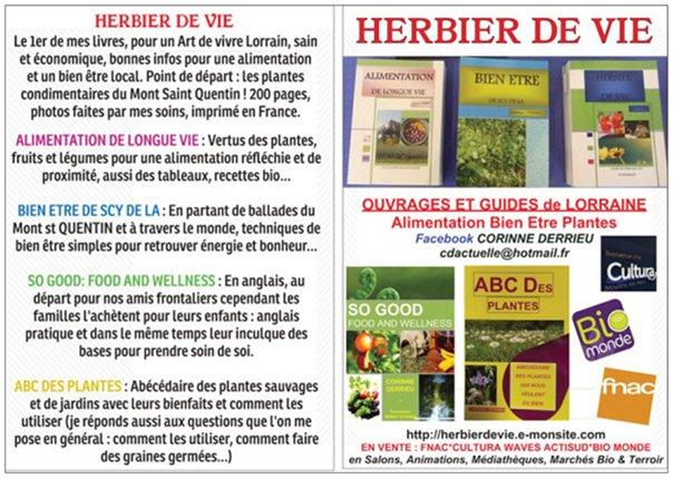 PRESENTATION HERBIER DE VIE LIVRES ET RESUMES
