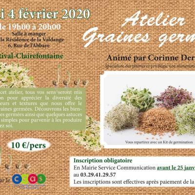 Atelier graines germees mairie etival clairefontaine 88